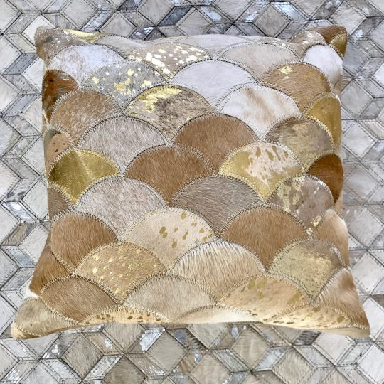 Neutral Beige Gold Mermaid Cushion Cover - hide cushion covers by The Cinnamon Room