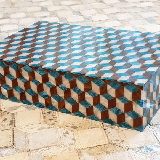 3D Crushed Mother Of Pearl Decorative Box - beautiful home accessories by The Cinnamon Room