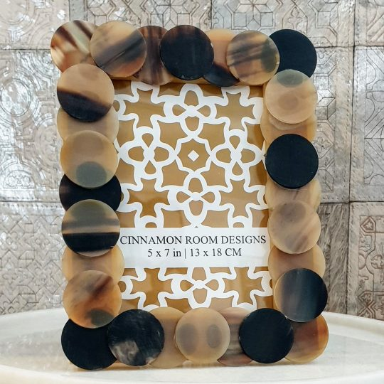 Buffalo Horn Circle Photo Frame - Photo frames by The Cinnamon Room