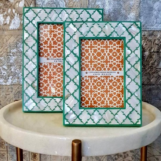 Mother Of Pearl Deep Green Mogul Photo Frame - Stunning picture frames by The Cinnamon Room