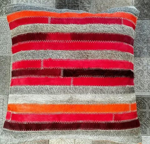 Vibrant Red Orange Grey Stripe Cushion Cover - colourful cushion covers by The Cinnamon Room