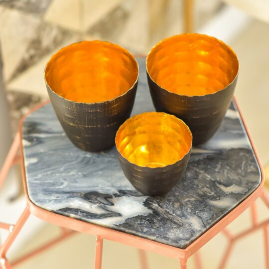 Gold Tealight Holder - unique tealight holders by The Cinnamon Room