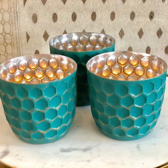 Teal Tealight Holder - lovely candle holders by The Cinnamon Room