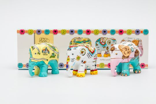 Singapore Stories Elephant Parade 3 Pack Giftbox - get the perfect Singapore leaving gift at The Cinnamon Room