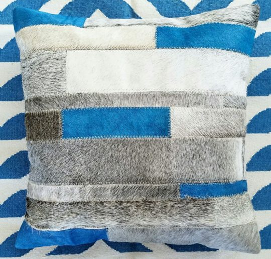 Vibrant Blue Grey Stripe Cushion Cover - striped cushion cover by The Cinnamon Room