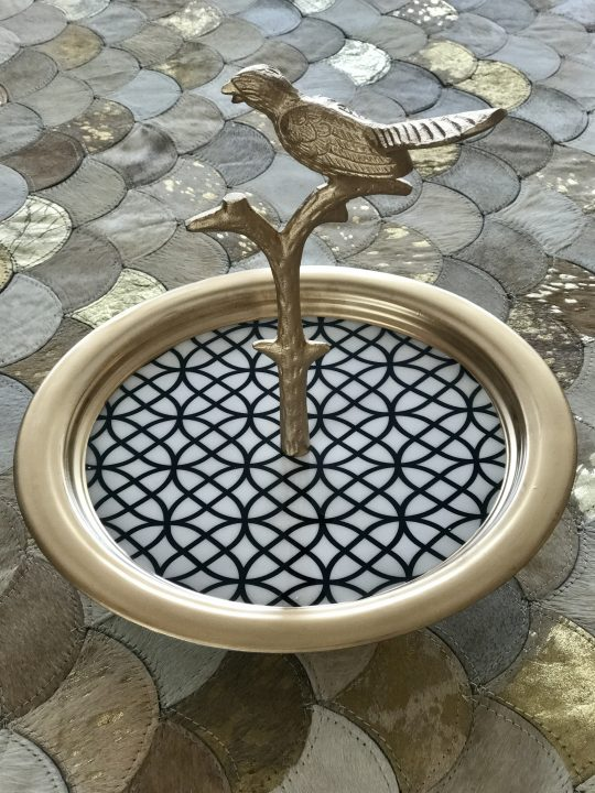 Enamelled Aluminum Bird Cake Stand - Beautiful Home Accessories by The Cinnamon Room