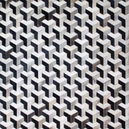 Monochrome Black & White 3D Hide Rug - hide rug by The Cinnamon Room