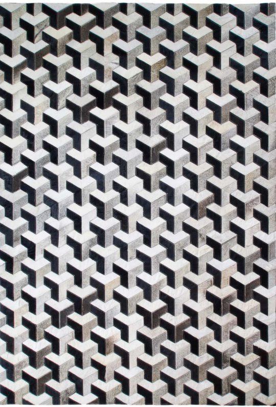 Monochrome Black & White 3D Hide Rug - hide rug by The Cinnamon Room