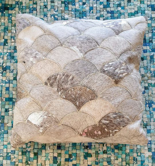 Neutral Grey Silver Mermaid Cushion Cover - neutral cushion covers by The Cinnamon Room
