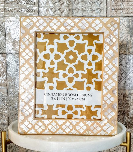 Mother Of Pearl Sand Beige Mogul Photo Frame - stunning picture frames by The Cinnamon Room