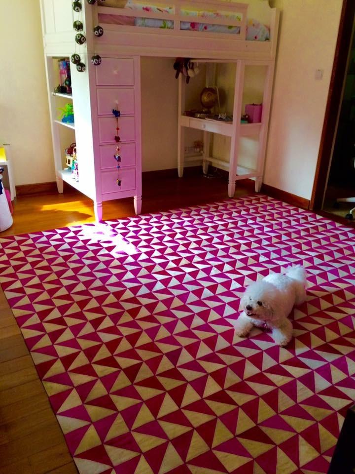 Pink White Triangles Situ