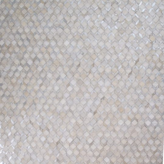 Neutral White Silver Geometric Hide Rug - neutral rug by The Cinnamon Room