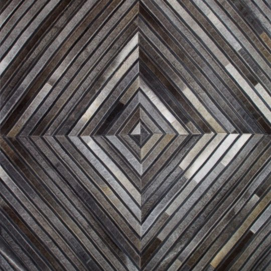Monochrome Black Grey Diamond Hide Rug - contemporary rug by The Cinnamon Room