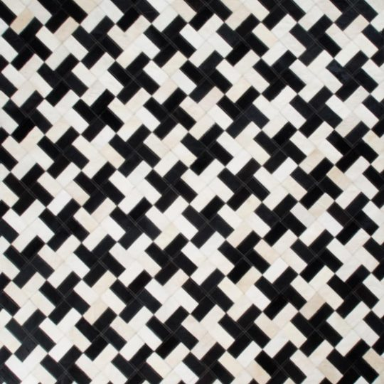 Monochrome Black & White Dogstooth Hide Rug - black and white carpets by The Cinnamon Room