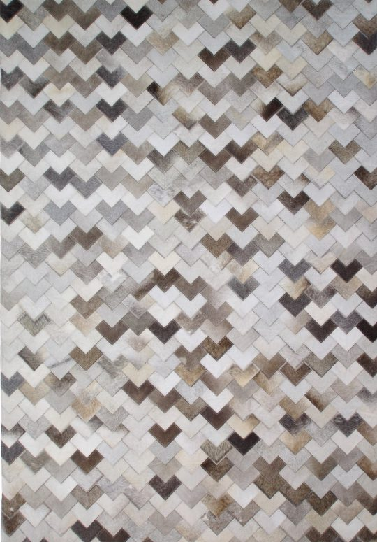 Neutral Grey Chevron Hide Rug - contemporary rug by The Cinnamon Room