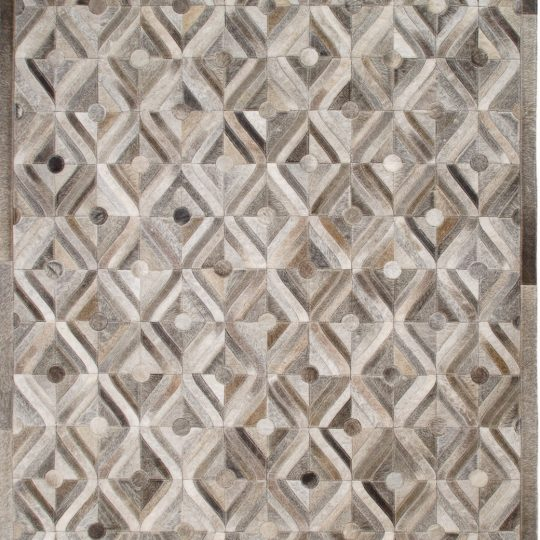 Neutral Grey Mogul Hide Rug – contemporary rugs by The Cinnamon Room