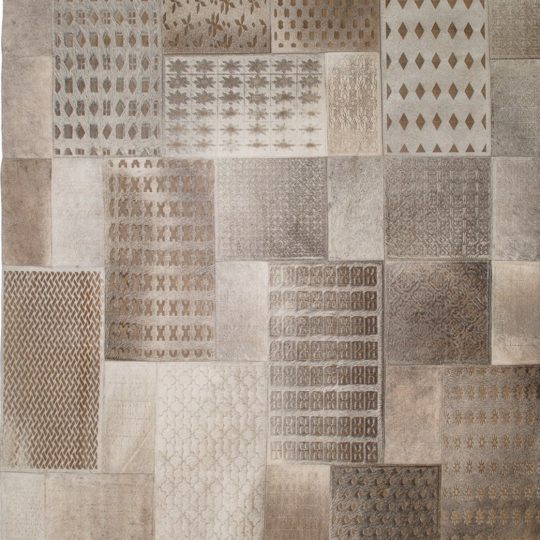 Neutral Grey Rectangular Laser Etched Hide Rug by The Cinnamon Room