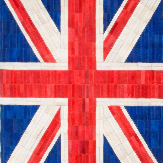 Vibrant Union Jack Hide Rug - modern carpet by The Cinnamon Room with the Union Jack Flag