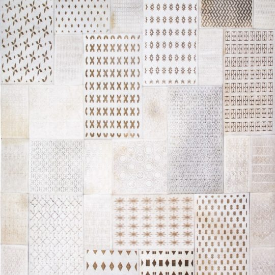 Neutral White Rectangular Laser Etched Hide Rug - neutral rug by The Cinnamon Room