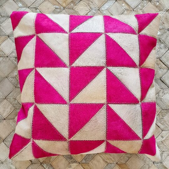Vibrant Pink White Triangle Cushion Cover - colourful cushion covers by The Cinnamon Room