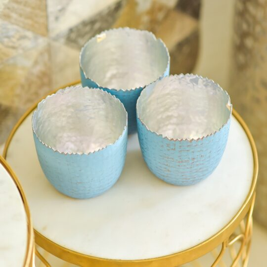 Blue Tealight Holder - contemporary candle holders by The Cinnamon Room