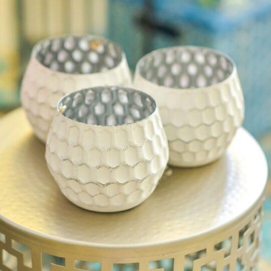 White Tealight Holder - modern tealight holders by The Cinnamon Room