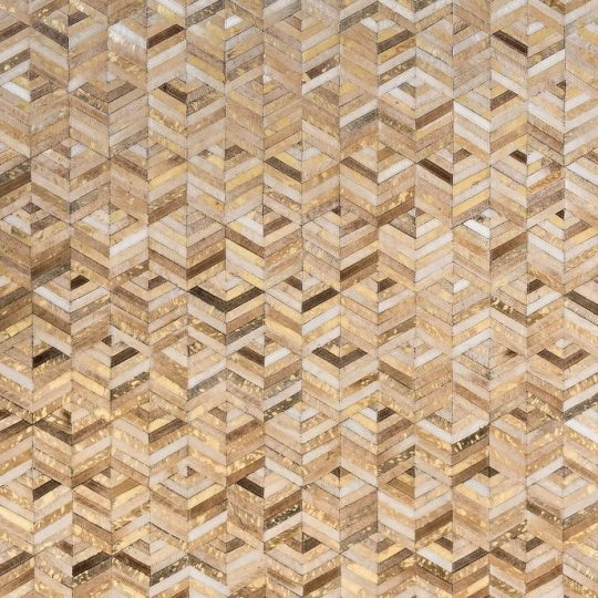 Neutral Beige Gold Chevron Hide Rug - stunning rugs by The Cinnamon Room