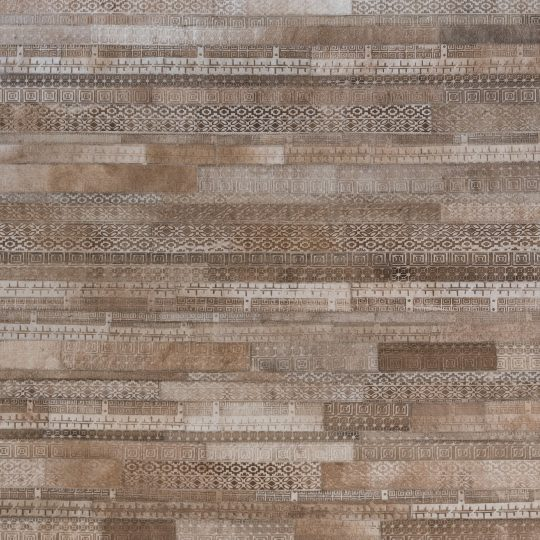 Neutral Beige Tribal Laser Etched Hide Rug - Modern carpet by The Cinnamon Room