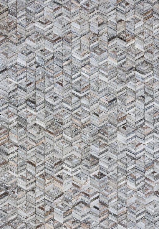 Neutral Grey Silver Chevron Hide Rug - hide rug by The Cinnamon Room