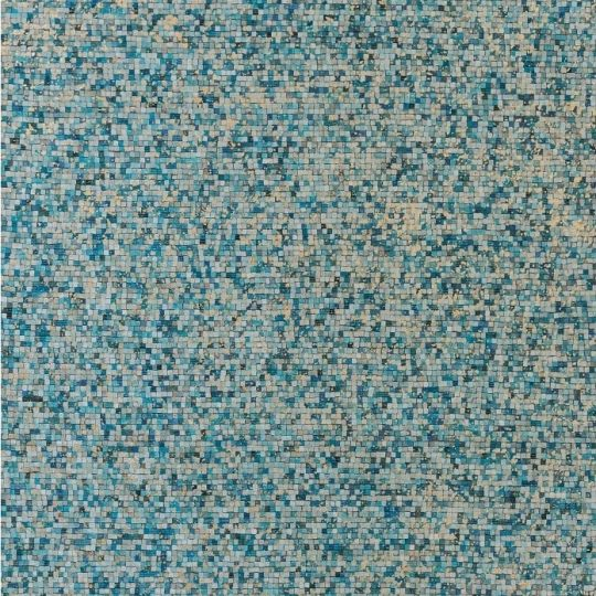 Vibrant Turquoise Gold Mosaic Hide Rug - mosaic rug by The Cinnamon Room