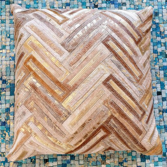 Neutral Beige Gold Chevron Cushion Cover - hide cushion covers by The Cinnamon Room