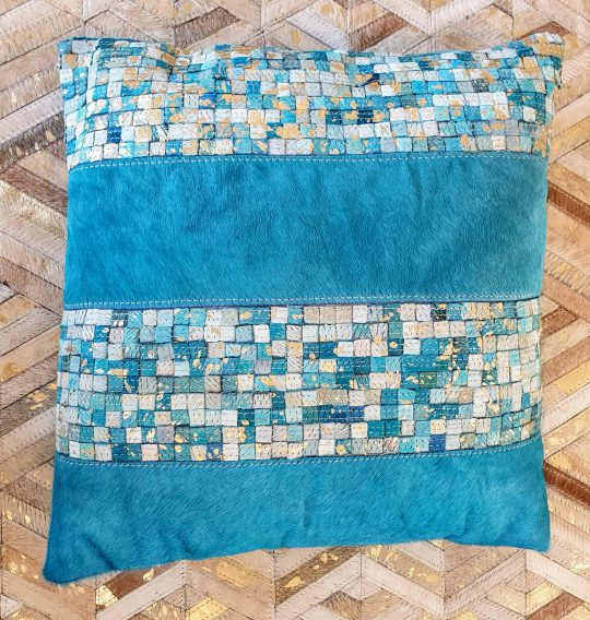 Vibrant Turquoise Gold Mosaic Cushion Cover - colourful cushion covers by The Cinnamon Room