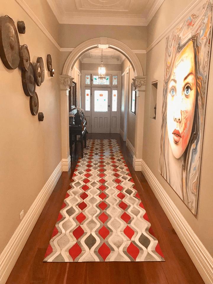 Bespoke hallway runner by The Cinnamon Room