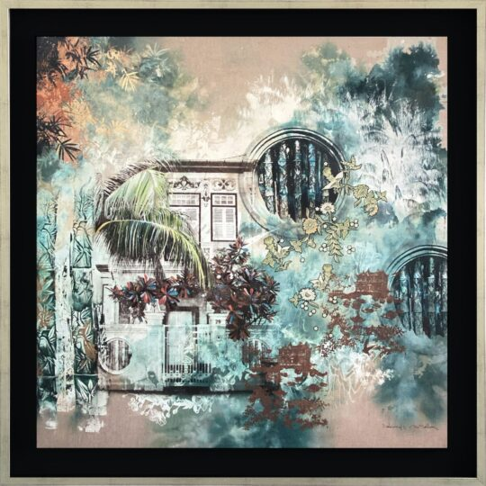 Bamboo Breeze Canvas Print by Deborah Mckellar of Talking Textiles