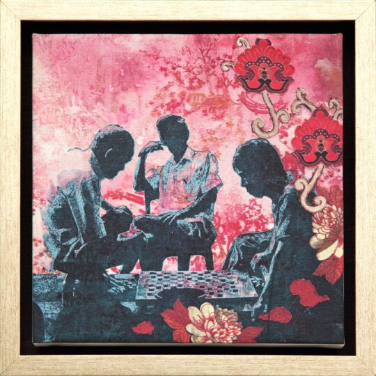 Chinese Checkers Canvas Print by Deborah Mckellar of Talking Textiles