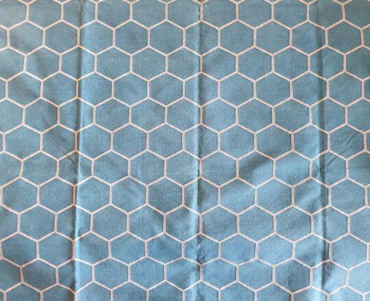 Honeycomb Teal Silver Cotton Dhurrie Rug - available at The Cinnamon Room