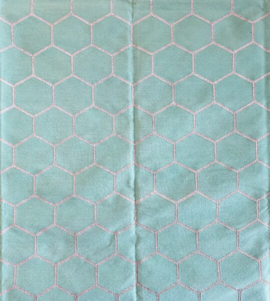 Honeycomb Turquoise Silver Cotton Dhurrie Rug - available at The Cinnamon Room