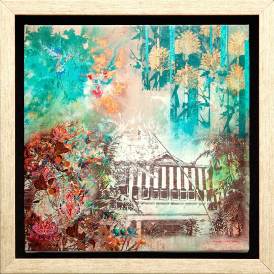 In the Emerald Jungle Canvas Print by Deborah Mckellar of Talking Textiles