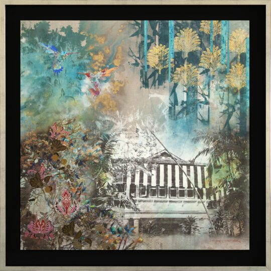 In the Emerald Jungle Canvas Print by Deborah Mckellar of Talking Textiles