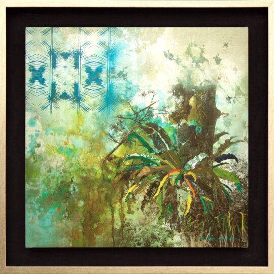 Jungle Batik Canvas Print by Deborah Mckellar of Talking Textiles