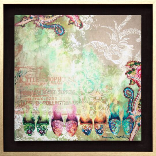 Peranakan Fables Canvas Print by Deborah Mckellar of Talking Textiles