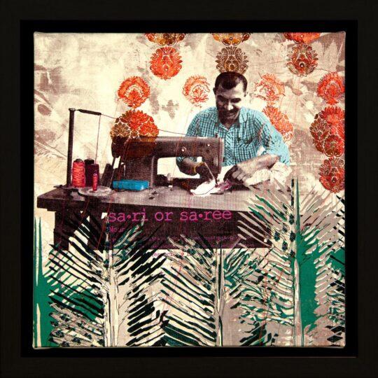 Serangoon Stitches Canvas Print by Deborah Mckellar of Talking Textiles