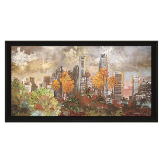Urban Jungle Canvas Print by Deborah Mckellar of Talking Textiles