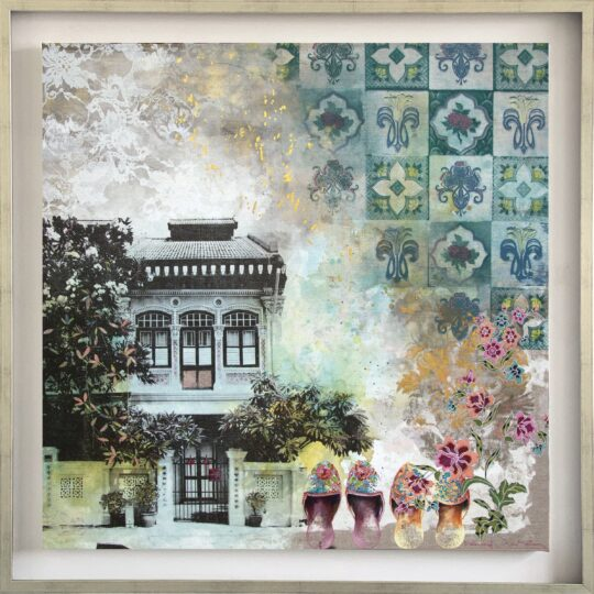 Baba Nyonya Canvas Print by Deborah Mckellar of Talking Textiles available at The Cinnamon Room
