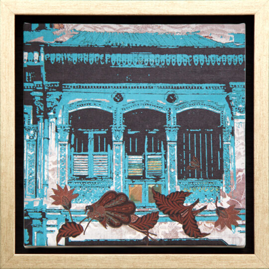 Blue Batik Canvas Print by Deborah Mckellar of Talking Textiles - available at The Cinnamon Room