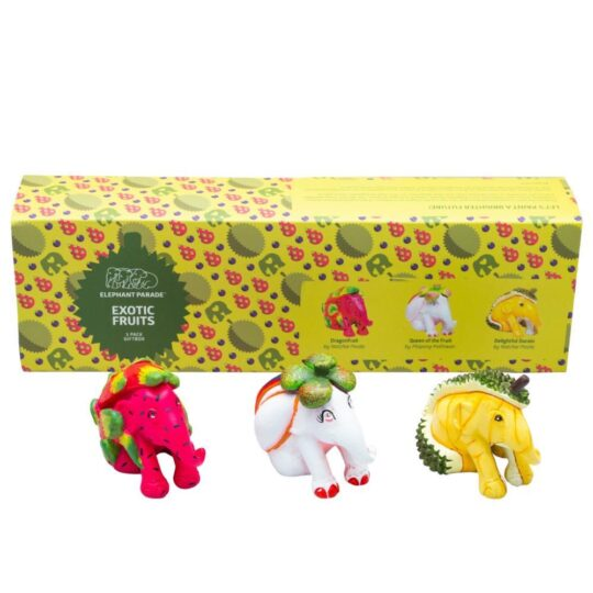 Exotic Fruits Elephant Parade 3 Pack Giftbox - available at The Cinnamon Room
