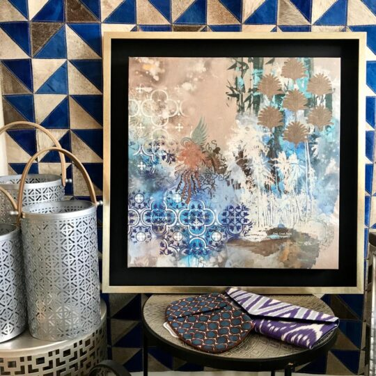 East Coast Road Canvas Print by Deborah Mckellar of Talking Textile with other products at The Cinnamon Room