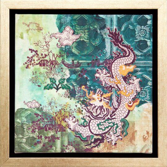Jade Dragon Canvas Print by Deborah Mckellar of Talking Textiles - available at The Cinnamon Room