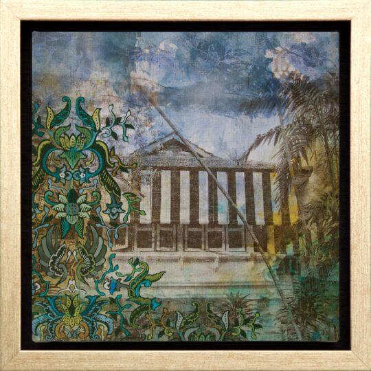 Striped Batik Canvas Print by Deborah Mckellar of Talking Textiles available at The Cinnamon Room