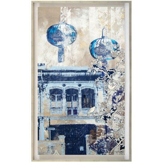 The Blue Lanterns Canvas Print by Deborah Mckellar of Talking Textiles - available at The Cinnamon Room